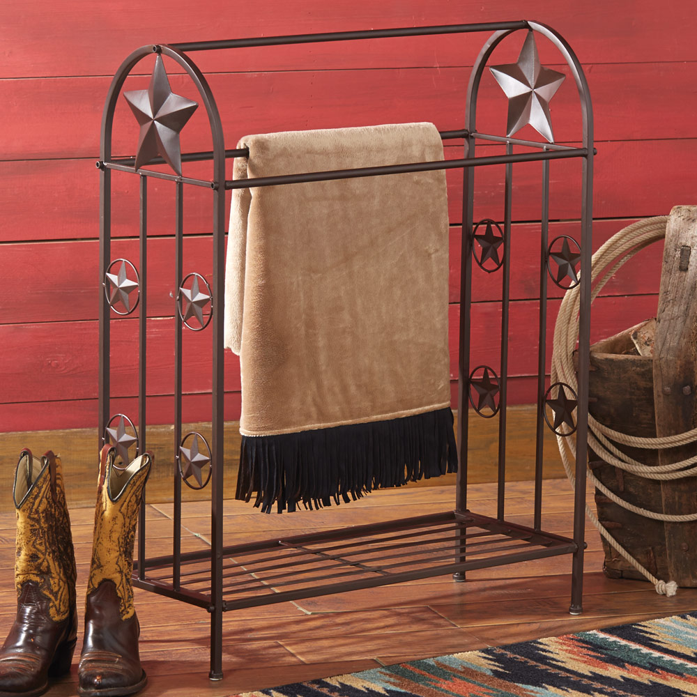 Metal Lone Star Quilt Rack