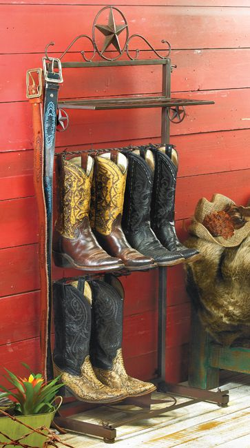 Metal Star Boot Rack