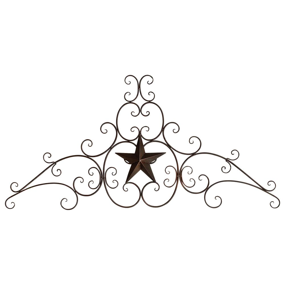 Metal Star & Scroll Wall Hanging