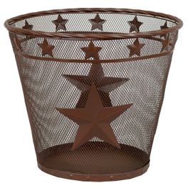 Metal Star Waste Basket