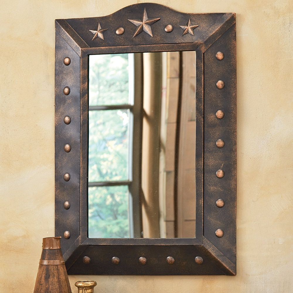 Metal Western Star Mirror