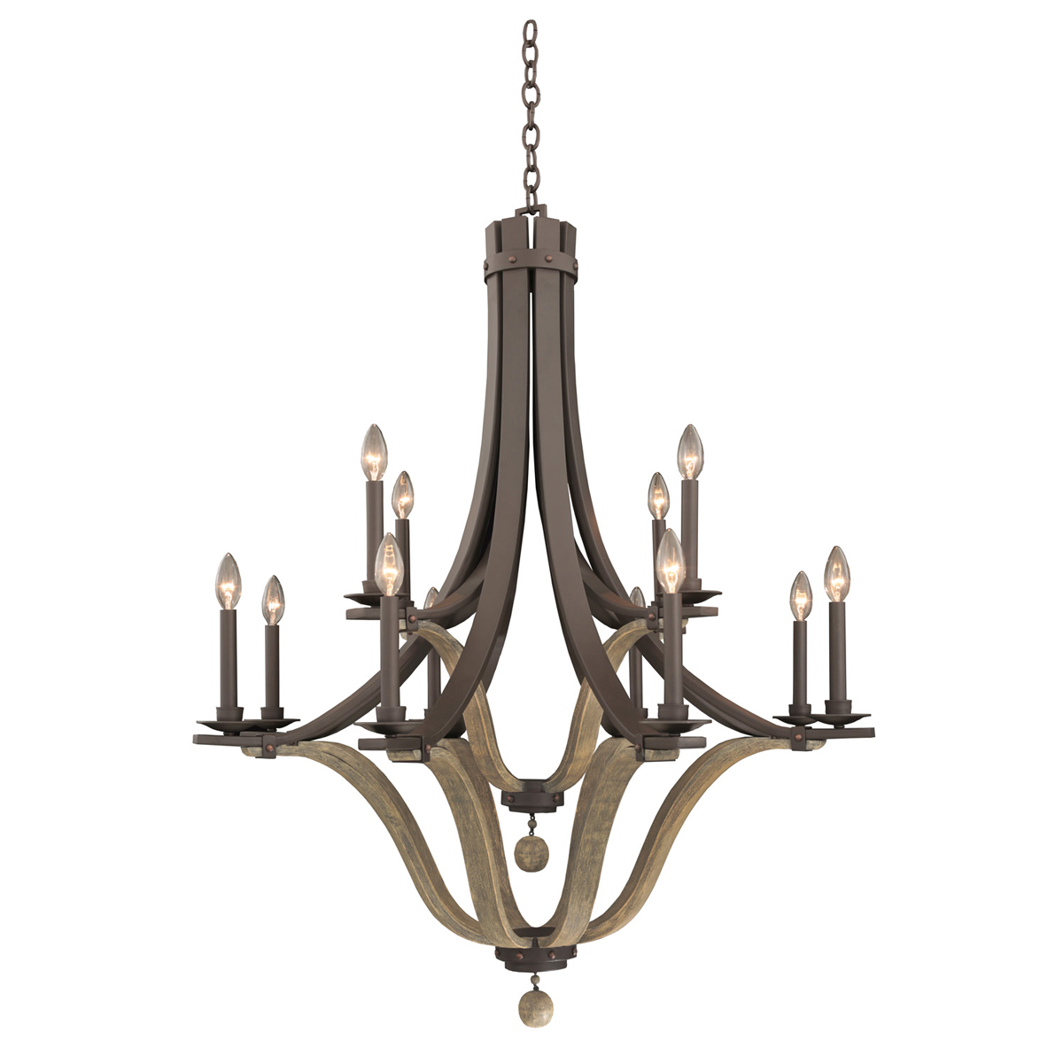 Michigan 12 Light 2 Tier Chandelier