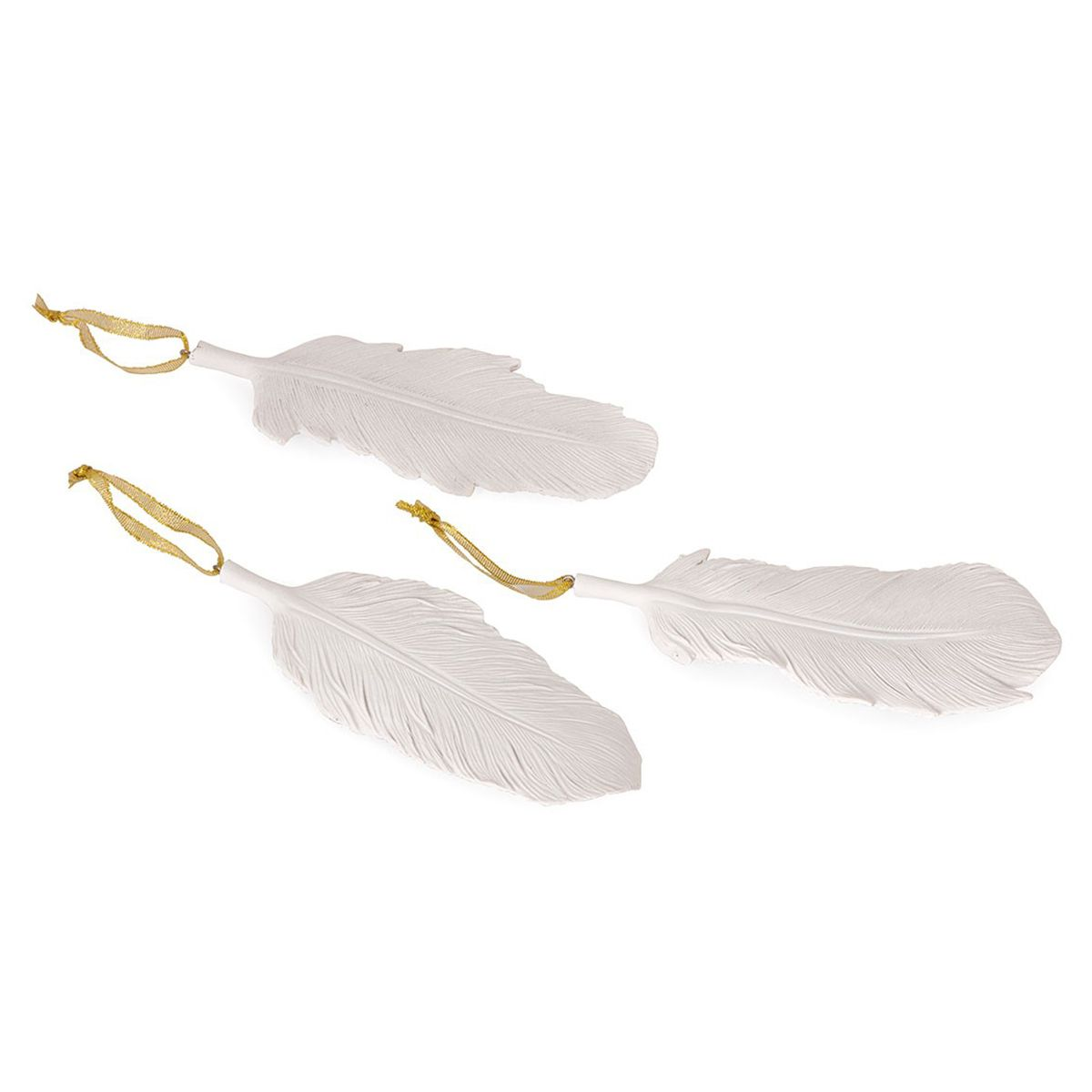 Milky Feather Ornaments - Set of 3