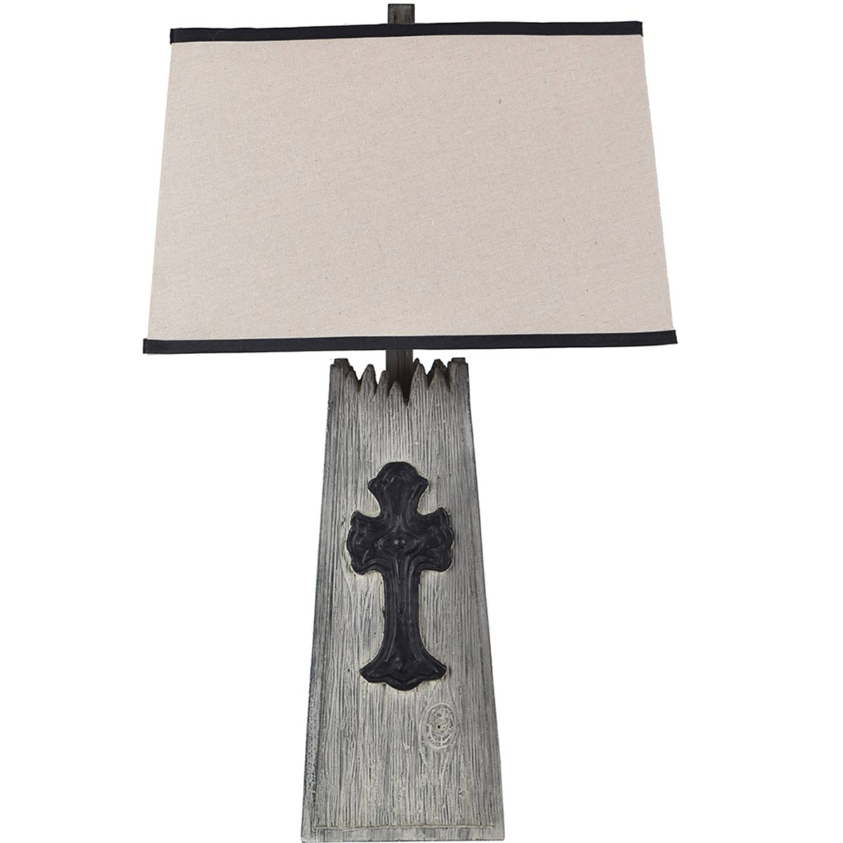 Mission Cross Table Lamp - Gray