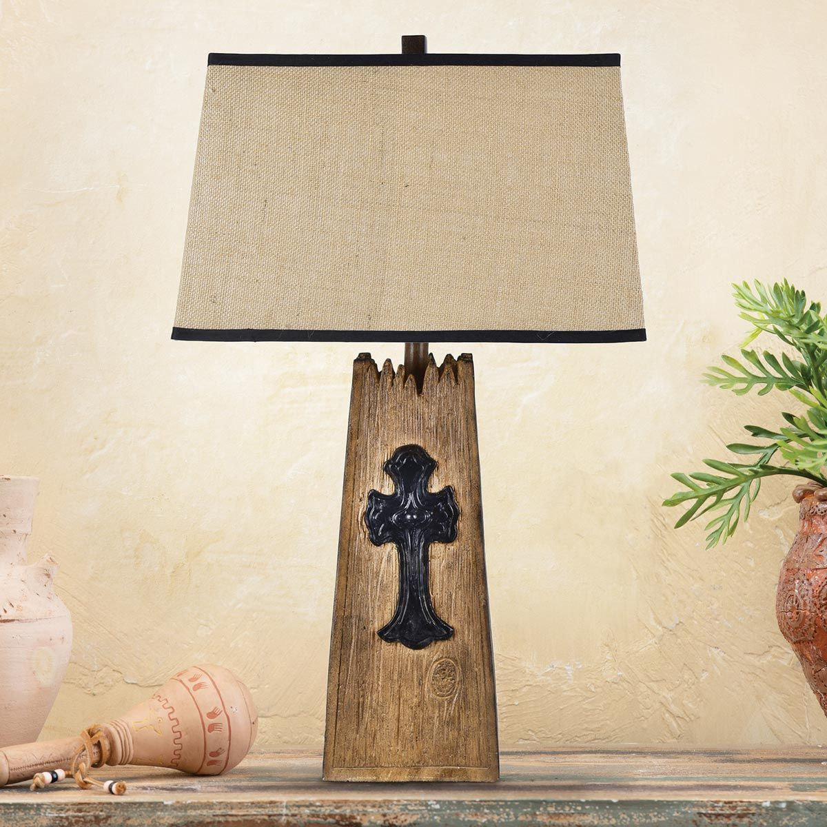 Mission Cross Table Lamp - Natural