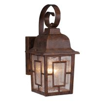Mission View Outdoor Hanging Wall Lamp - Royal Bronze