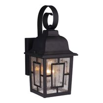 Mission View Outdoor Hanging Wall Lamp - Textured Black