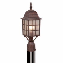 Mission View Outdoor Pole Light - Royal Bronze