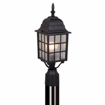Mission View Outdoor Pole Light - Textured Black