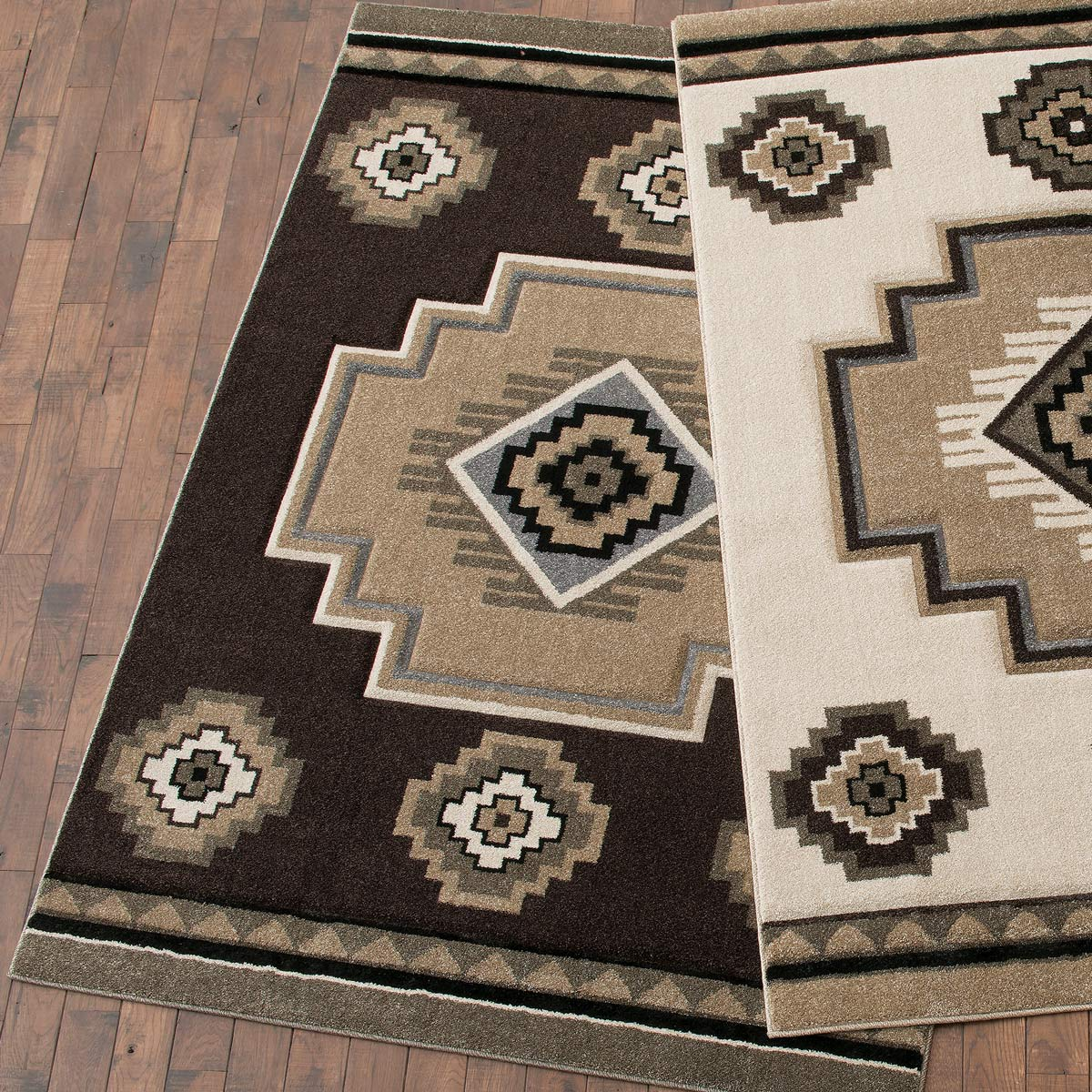 Misty Mountain Brown Rug - 5 x 8
