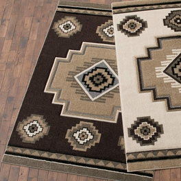 Misty Mountain Brown Rug Collection