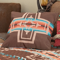Mocha Canyon Cross Accent Pillow