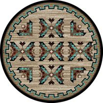 Mojave Arrows Rug - 8 Ft. Round