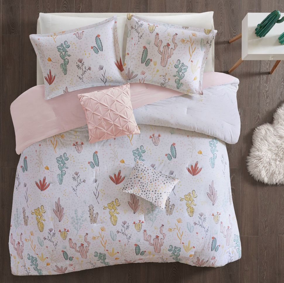 Mojave Blooms Cotton Printed Duvet Cover Set - Full/Queen
