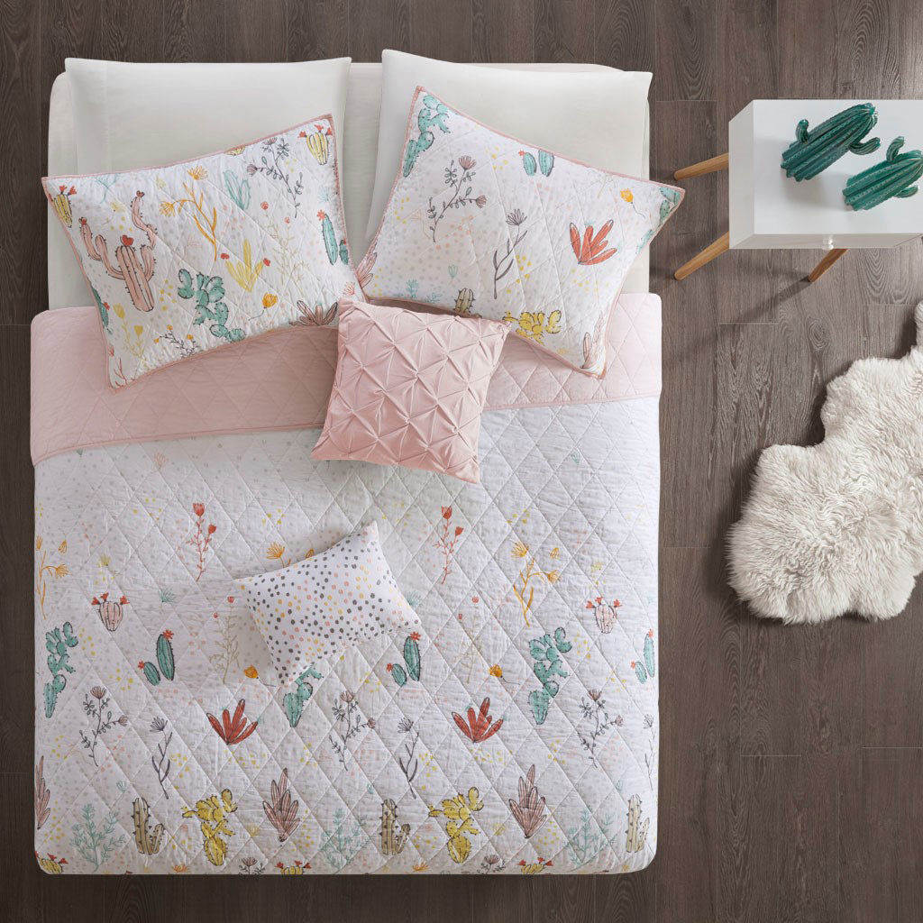 Mojave Blooms Reversible Coverlet Set - Twin/Twin XL