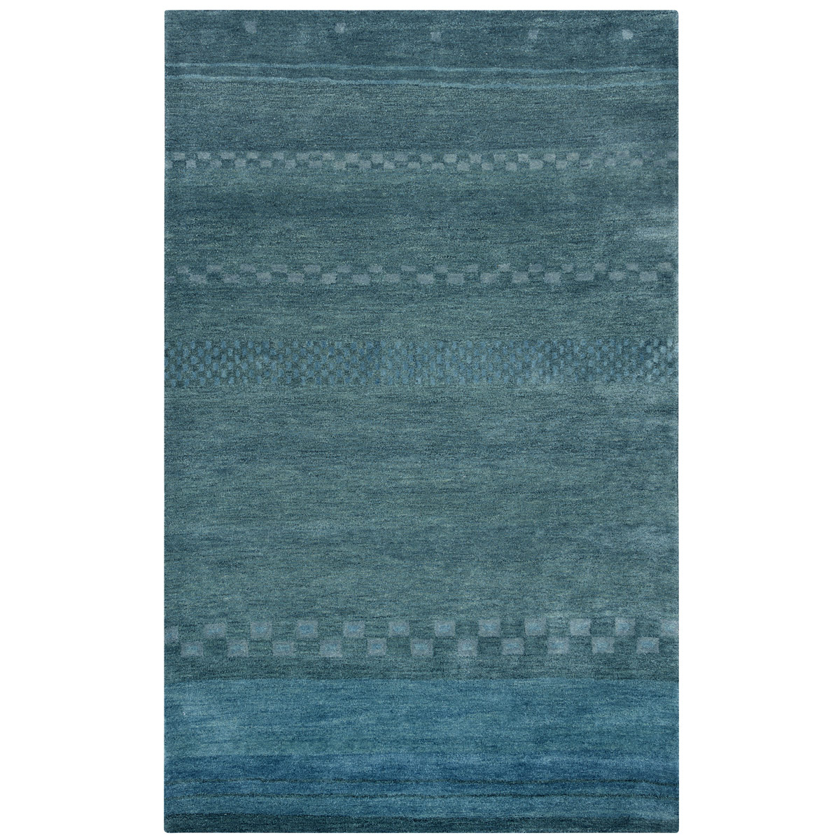 Mojave Blue Checks Rug - 5 x 8