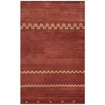 Mojave Rust Checks Rug - 5 x 8