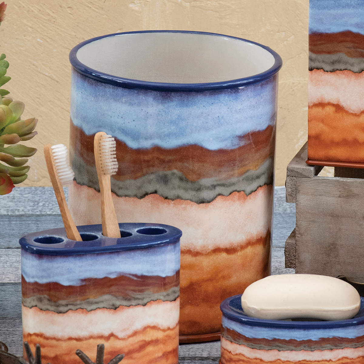 Mojave Vista Waste Basket