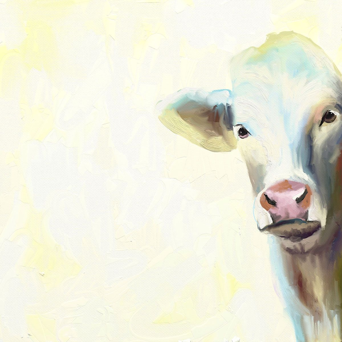Molly the Cow Canvas Art