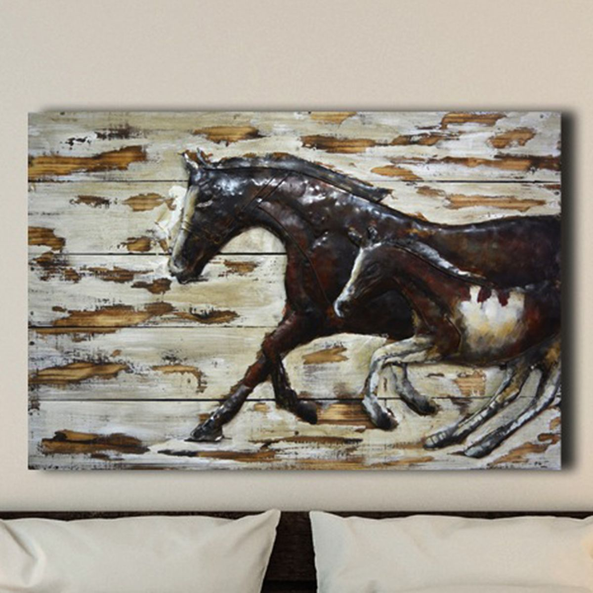 Mom and Mare Metal Wall Art