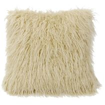 Mongolian Cream Faux Fur Pillow