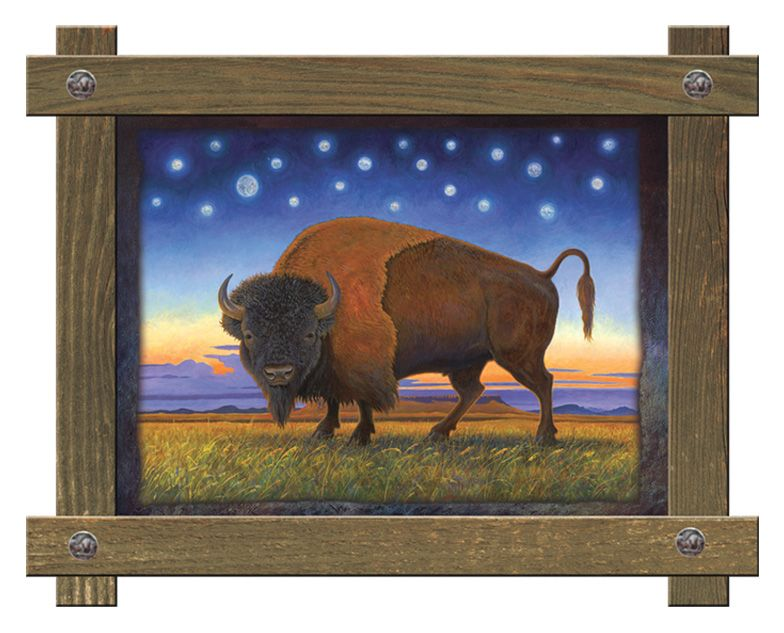 Montana Power Framed Wall Art