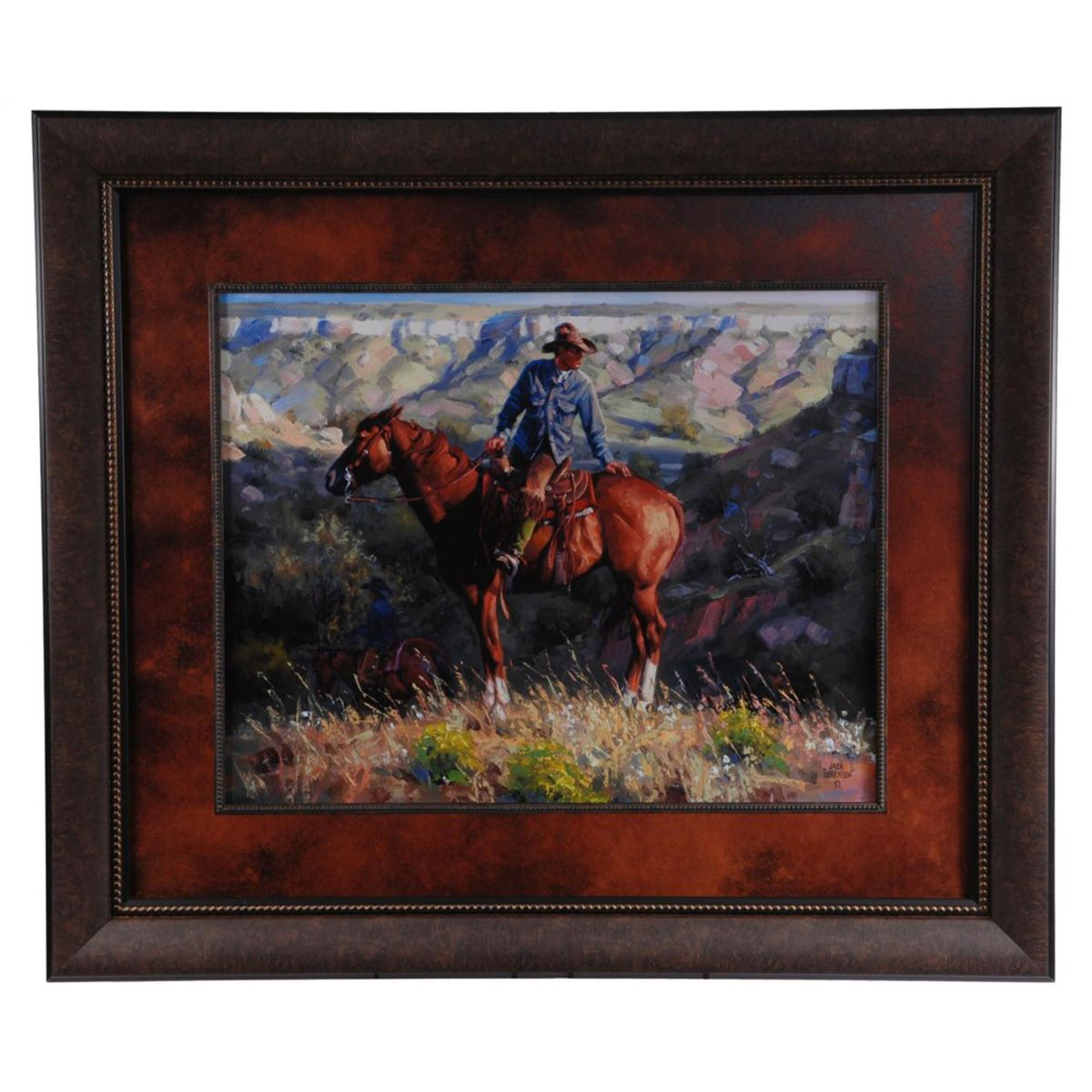 Mountain Cowboy Framed Print