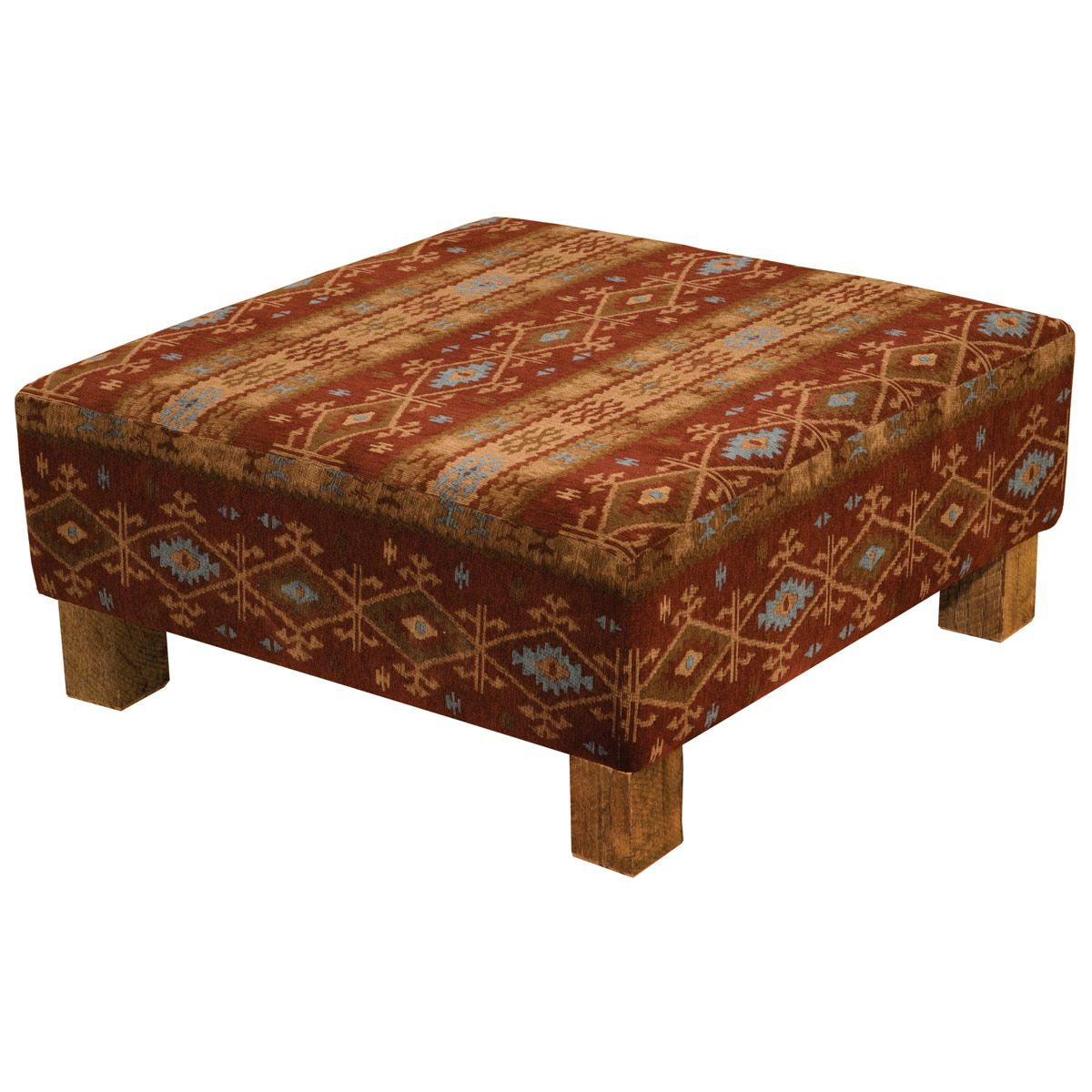 Mountain Sierra Coffee Table Ottoman with Barnwood Legs