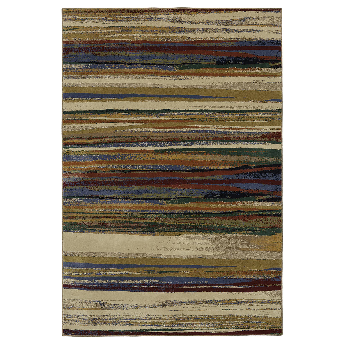 Multi Stripe Rug - 5 x 8
