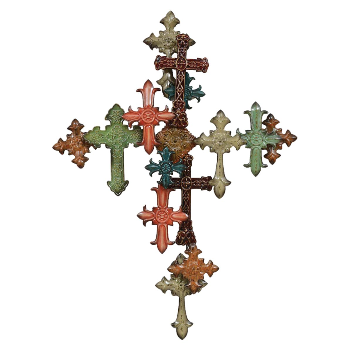 Multiple Cross Wall Décor