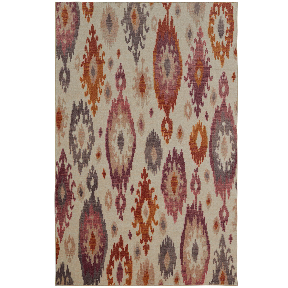 5X8 Area Rug New Modern Large Huge Rawhide Leather Beige Red Southwestern Clay