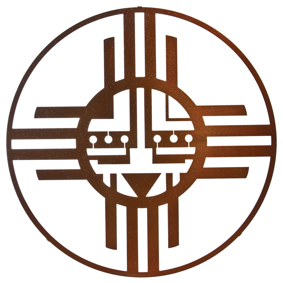 Native Sun Metal Wall Art - Sparkle Copper