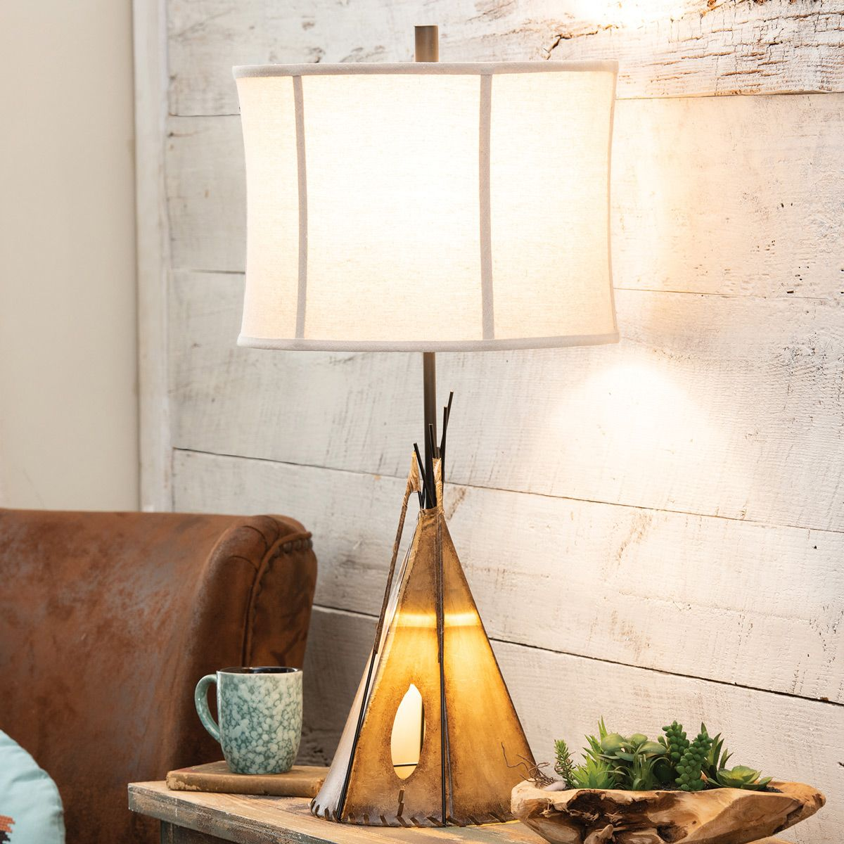 Native Tepee Table Lamp