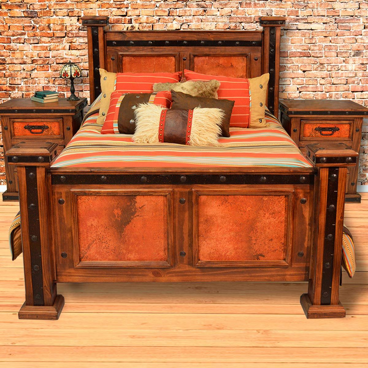 Natural Patina Copper Bed - Queen