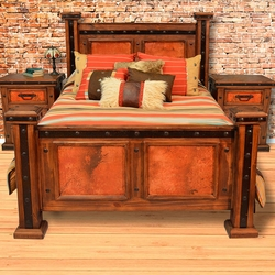 Natural Patina Copper Bedroom Furniture Collection
