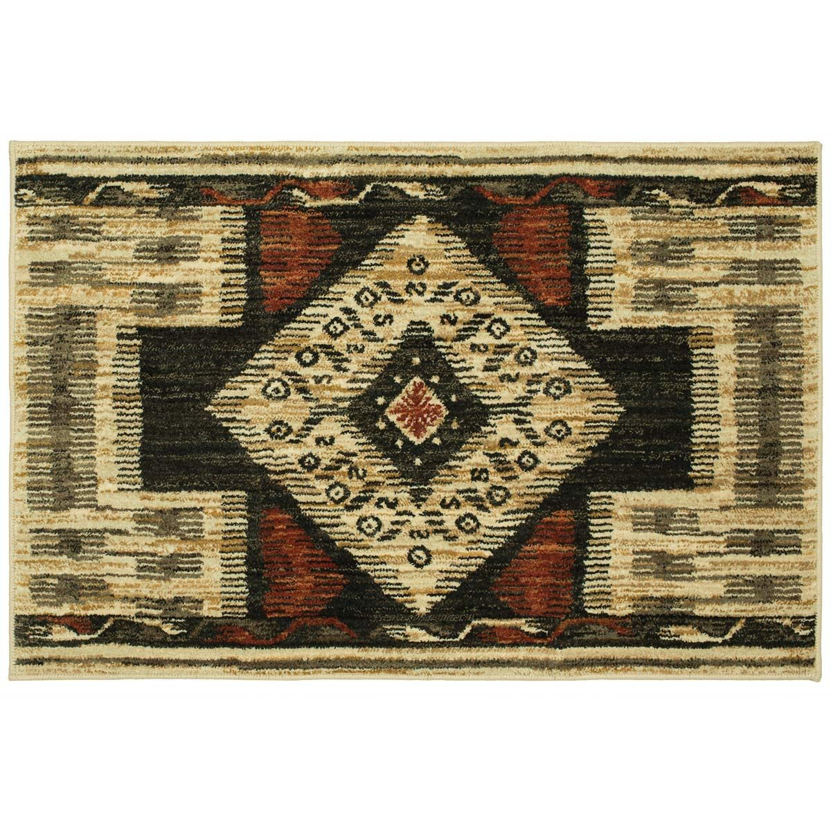 Navajo Diamond Accent Rug
