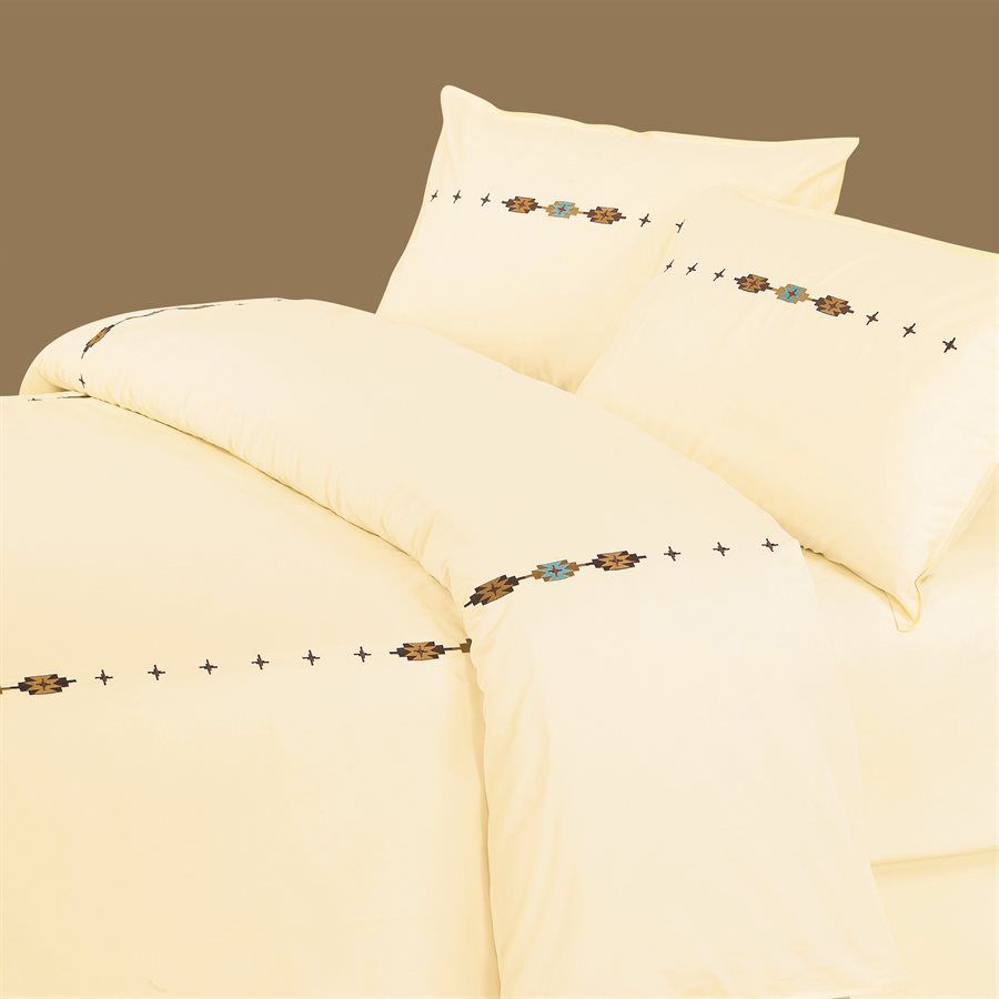 Navajo Embroidered Duvet Set - King