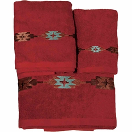 Navajo Red Towel Set (3 pcs)