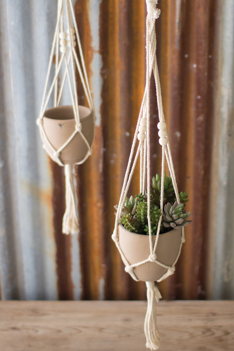 Netted Clay Pot and Hanger