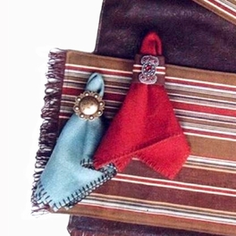 Nickel Silver Round Concho Napkin Rings - Set of 6