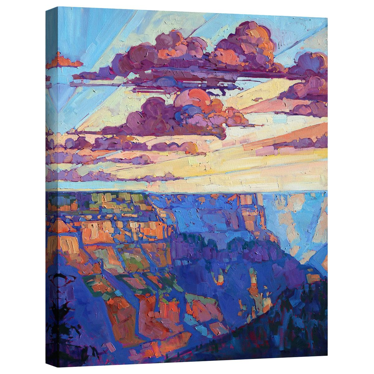 North Rim V Mirror Wrapped Canvas
