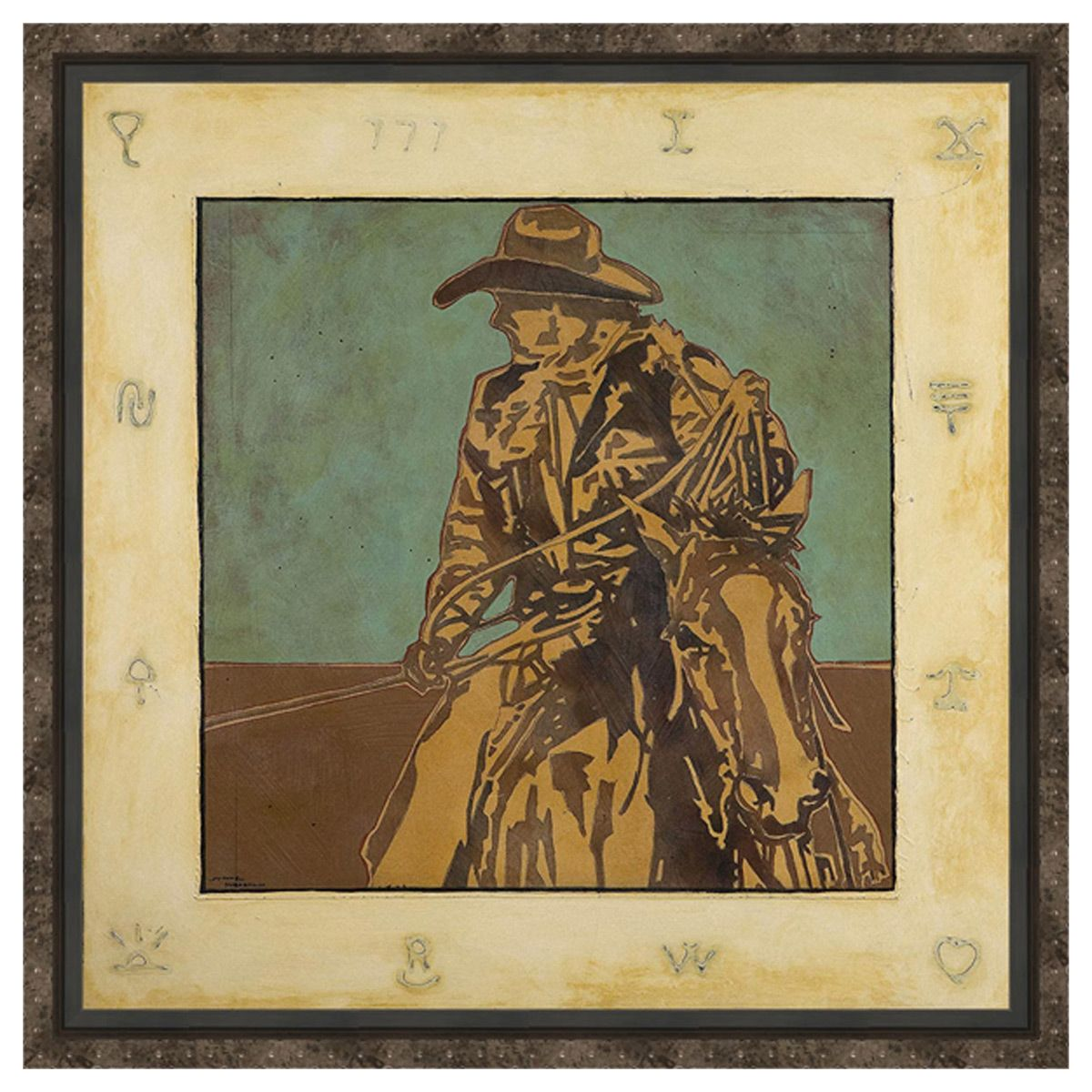 Not My First Rodeo Framed Canvas