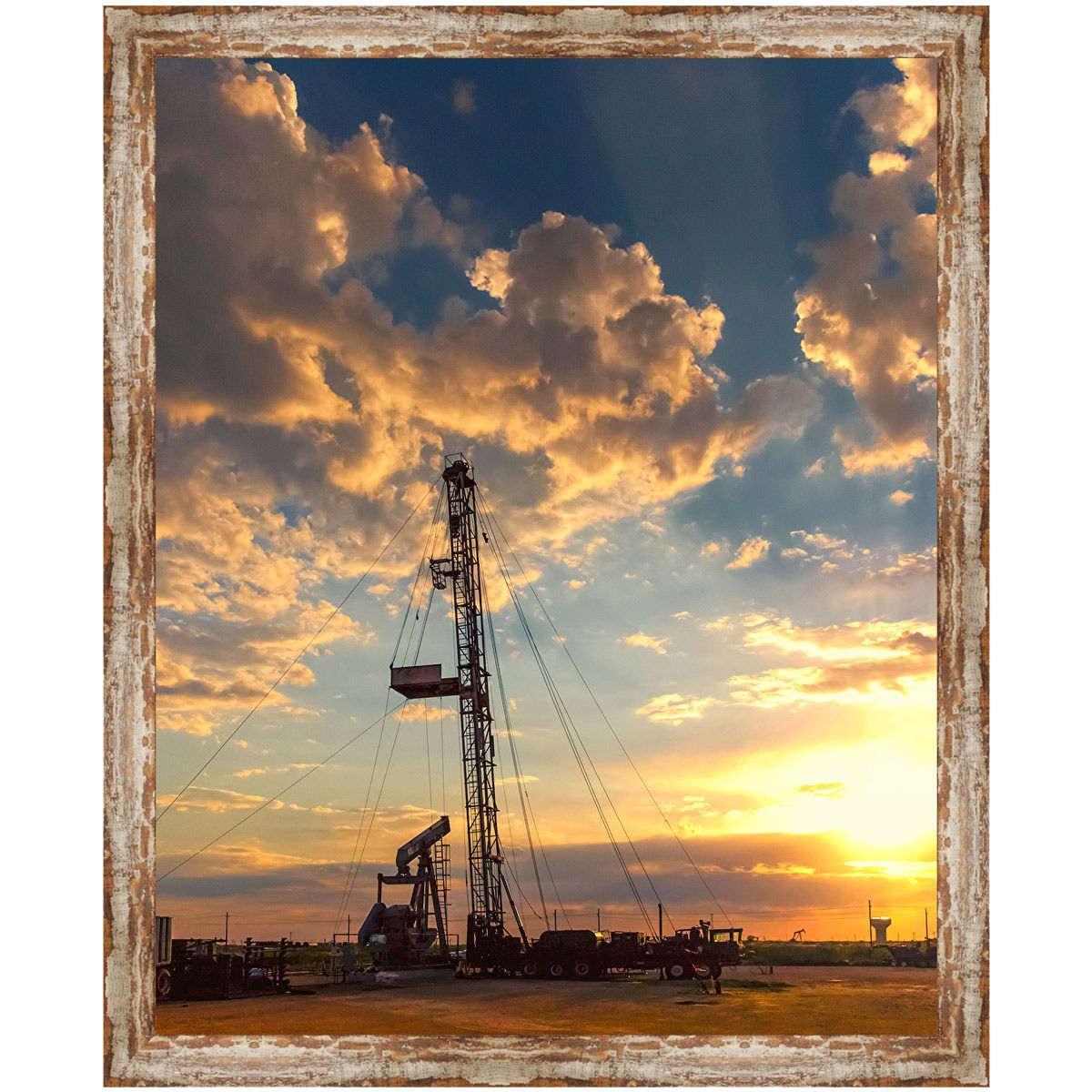 Oilfield Sunset Framed Art