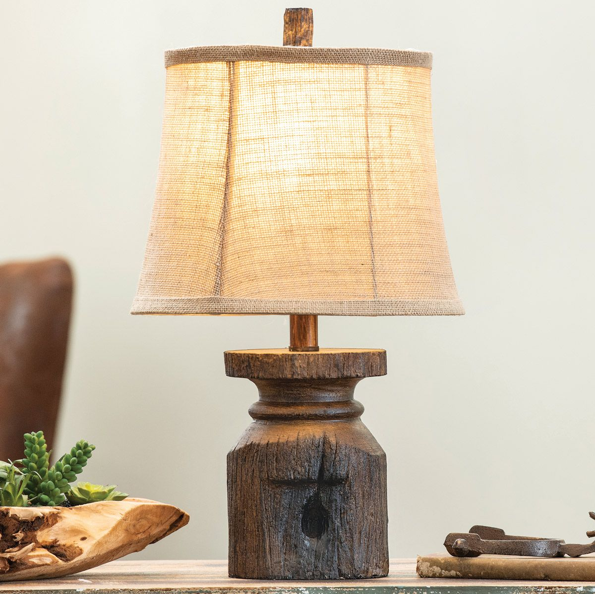Old Abilene Post Table Lamp
