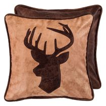 Old Dominion Reversible Deer Bust Pillow