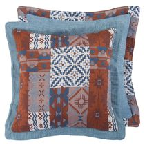 Old Dominion Reversible Patchwork Linen Pillow