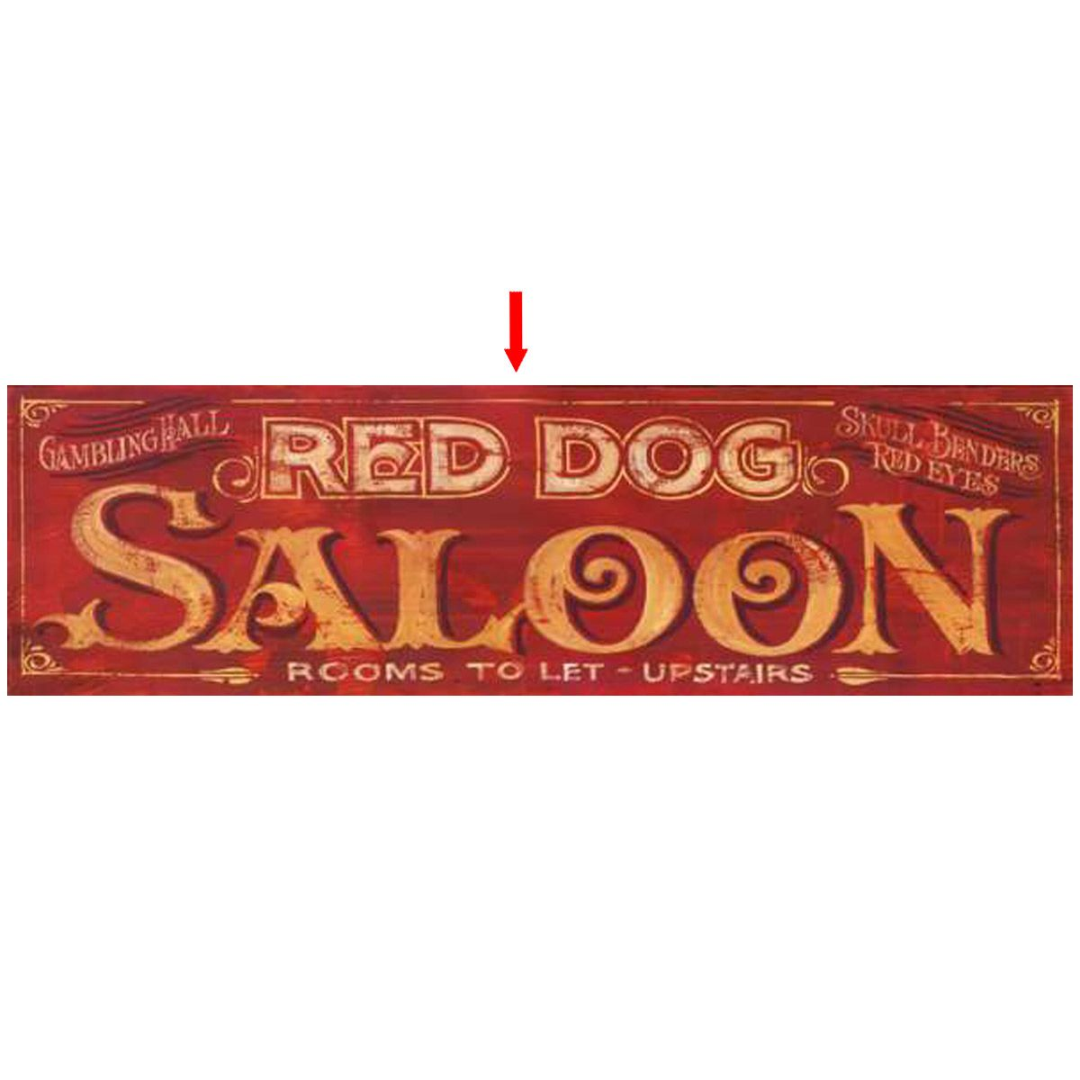 Old Saloon Personalized Sign