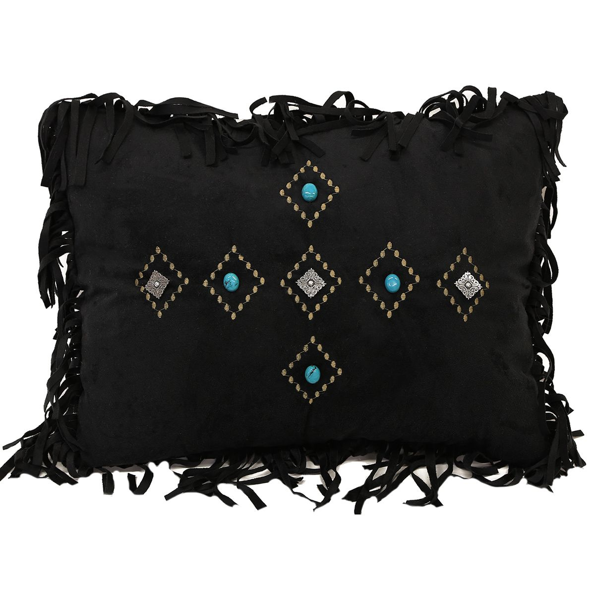 Old West Black Diamond Pillow