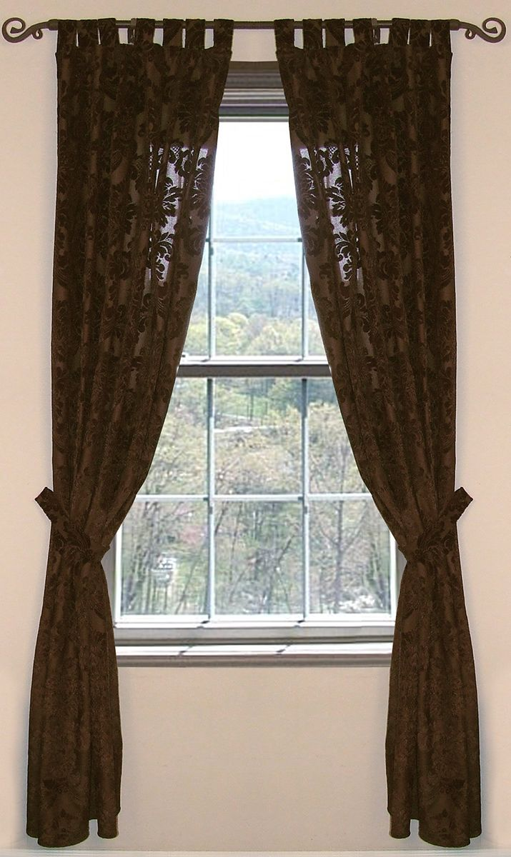 Old West Damask Drapes