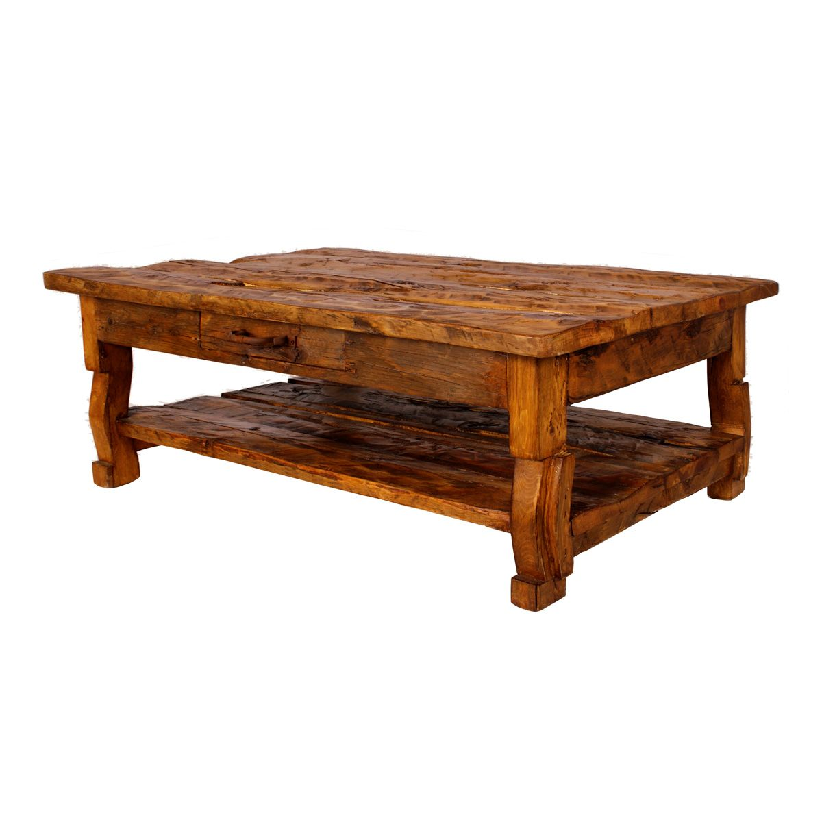 - Rustic Tables: Old West Pine Coffee Table